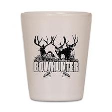 Bowhunter bucks b Shot Glass