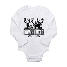 Bowhunter bucks b Long Sleeve Infant Bodysuit