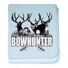Bowhunter bucks b baby blanket