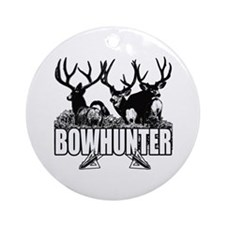 Bowhunter bucks b Ornament (Round)