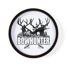 Bowhunter bucks b Wall Clock