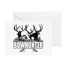 Bowhunter bucks b Greeting Card