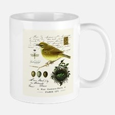 modern vintage french bird and nest Mugs