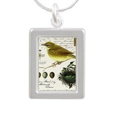 modern vintage french bird and nest Necklaces