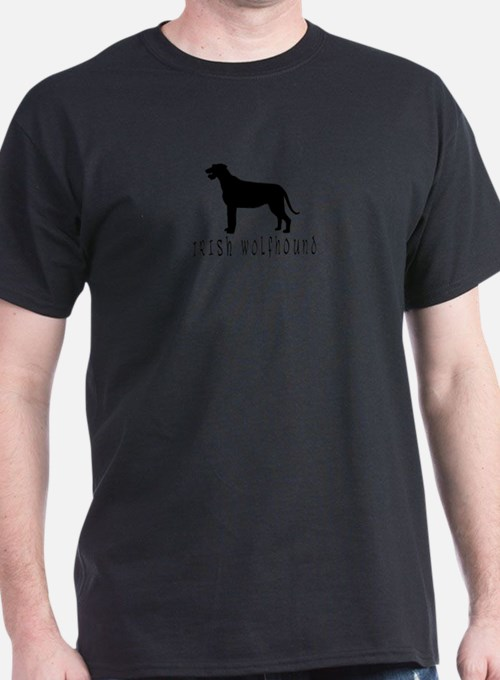 irish wolfhound dog text2 wd T-Shirt