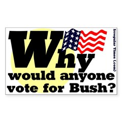Why vote for Bush Bumper Decal