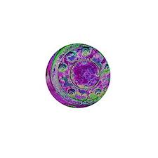 Purple Green Wheel Mini Button