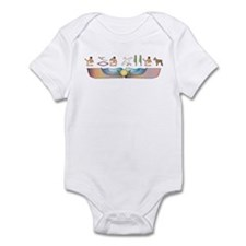 Schnauzer Hieroglyphs Infant Bodysuit