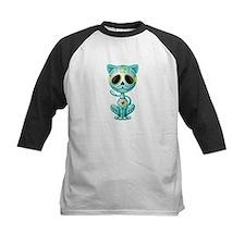 Blue Zombie Sugar Skull Kitten Baseball Jersey
