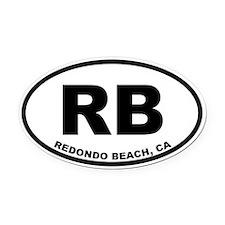 RB Redondo Beach Oval Car Magnet