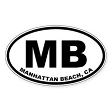 MB Manhattan Beach Stickers