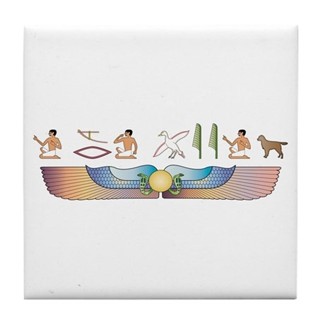 Staby Hieroglyphs Tile Coaster