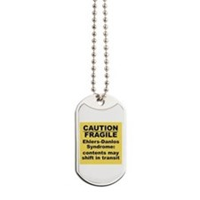 Ehlers-Danlos Syndrome Caution Fragile Dog Tags