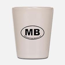 MB Manhattan Beach Shot Glass