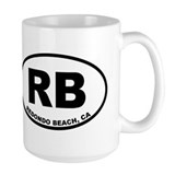 Redondo beach Large Mugs (15 oz)