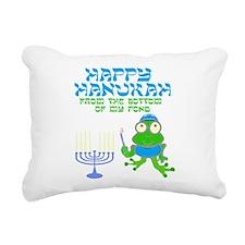 Hanukah Frog Rectangular Canvas Pillow