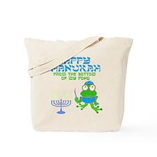 Hanukah Frog Tote Bag