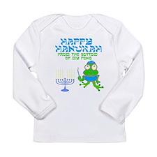 Hanukah Frog Long Sleeve T-Shirt