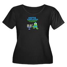 Hanukah Frog Plus Size T-Shirt