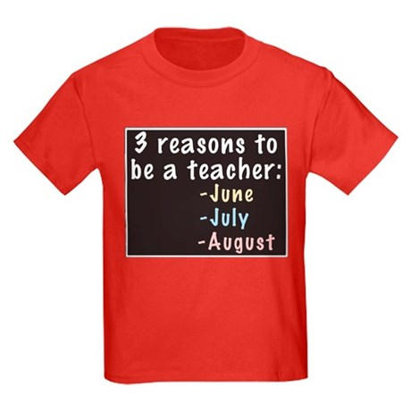 Reasons to be a Teacher Kids Dark T-Shirt