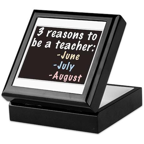 Reasons to be a Teacher Keepsake Box