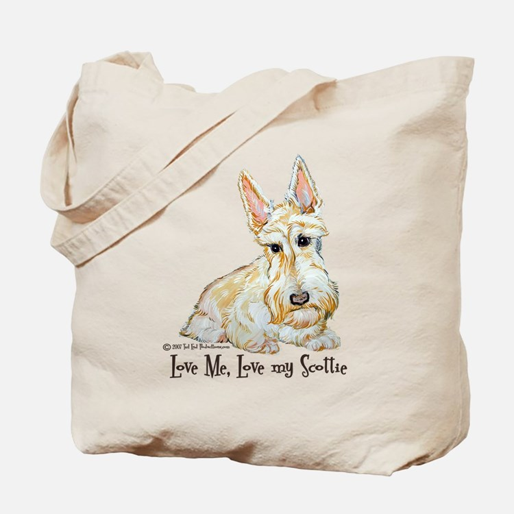 Wheaten Scottish Terrier Tote Bag