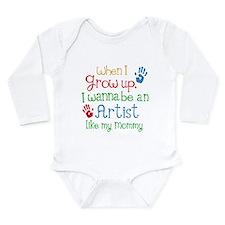 Artist Like Mommy Long Sleeve Infant Bodysuit