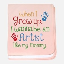 Artist Like Mommy baby blanket