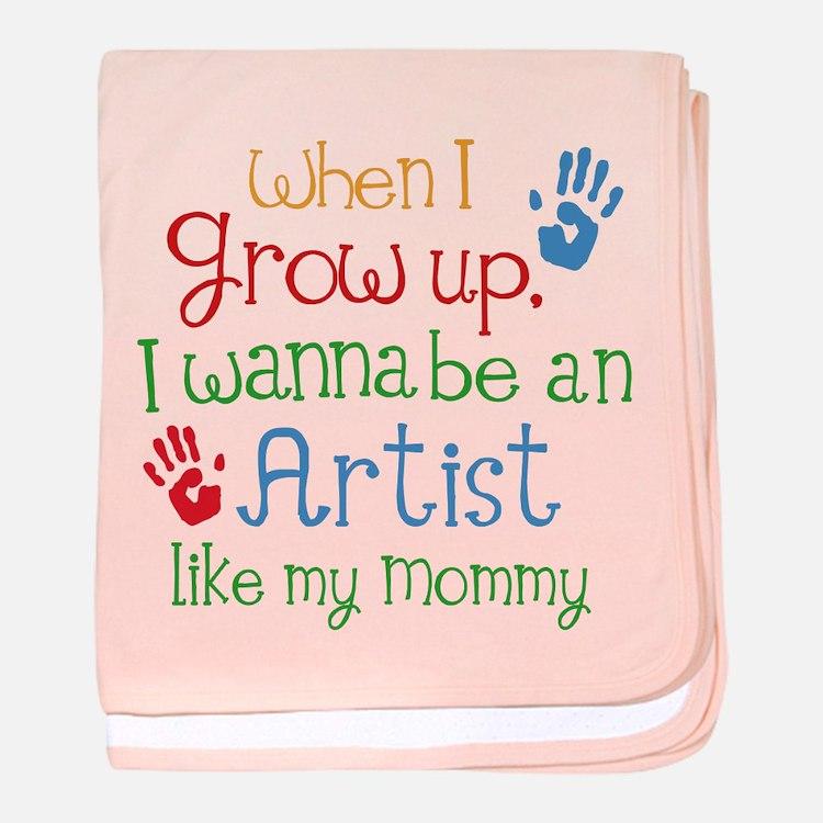Artist Like Mommy baby blanket
