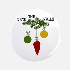 """Deck The Halls 3.5"""" Button (100 pack)"""