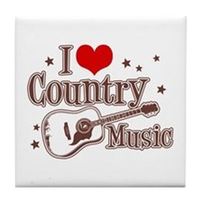 I Love Country Music Tile Coaster