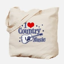 I Love Country Music Tote Bag