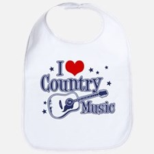 I Love Country Music Bib