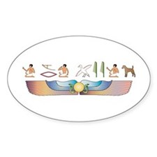 Foxie Hieroglyphs Oval Decal