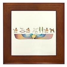 Foxie Hieroglyphs Framed Tile