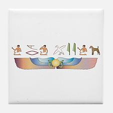 Foxie Hieroglyphs Tile Coaster