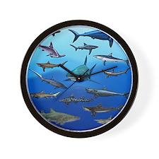 Shark Gathering Wall Clock