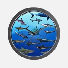 Shark Gathering Wall Clock