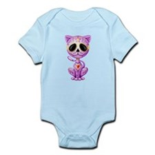 Purple Zombie Sugar Skull Kitten Body Suit