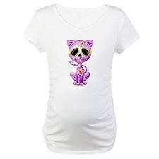 Purple Zombie Sugar Skull Kitten Shirt