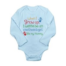 Anesthesiologist Like Long Sleeve Infant Bodysuit