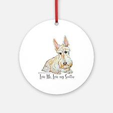 Wheaten Scottish Terrier Ornament (Round)