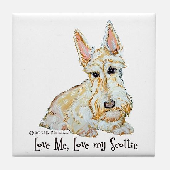 Wheaten Scottish Terrier Tile Coaster