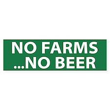 No Farms Beer (bumper) Bumper Bumper Stickers