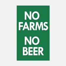 No Farms No Beer Sticker (rectangle)