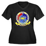AEWBARRONPAC Women's Plus Size V-Neck Dark T-Shirt