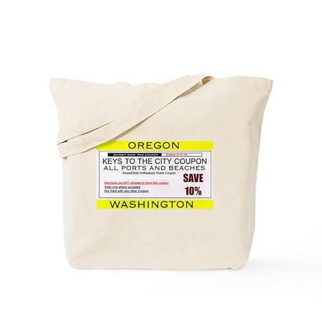 Oregon Washington Beaches & Ports Tote Bag