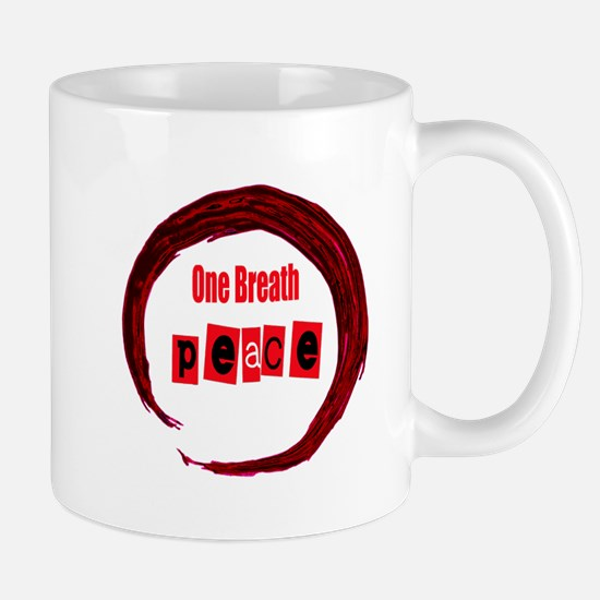 One Breath Peace and Hand drawn Enso Mugs
