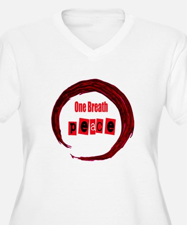 One Breath Peace and Hand drawn Enso Plus Size T-S