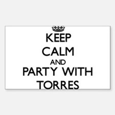 Keep calm and Party with Torres Decal